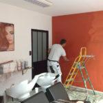 SABLÉ DÉCOR Rehabilitation Salon De CoiffurePose D Enduit Décoratif